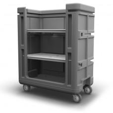 Convertible Shelf Bulk Cart - Black - XRAY