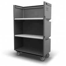 "Convertible Shelf Bulk Cart - Black - XRAY - Stencil (1) - Nylon Cover - Casters (8"")"