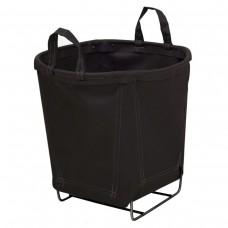 6 Bushel Black Small Round Baskets