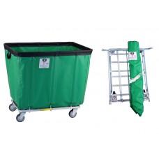 "14 Bushel ""UPS/FEDEX-ABLE"" Vinyl Basket Truck, Forest Green"