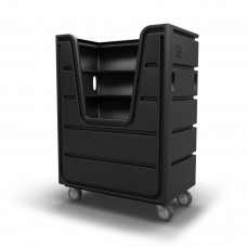Bulk Container Cart - Black - Cutaway