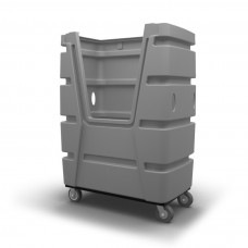 "Bulk Container Cart - Black - XRAY - Stencil (1) - Nylon Cover - Casters (8"") - Poly Base"