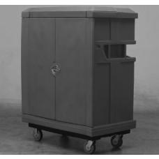 "Convertible Shelf Bulk Cart - Black - XRAY - Stencil (2) - Nylon Cover - Casters (8"")"