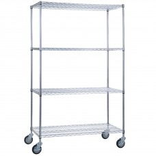 Linen Cart 24x48x68, 4 Wire Shelves