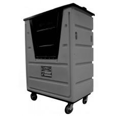 "Bulk Container Cart - Black - XRAY - Stencil (1) - Nylon Cover - Casters (8"")"