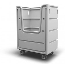 "Bulk Container Cart - Black - XRAY - Stencil (2) - Nylon Cover - Casters (8"")"