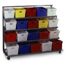 4 Shelf Flat Tub Distribution Rack - Hardboard
