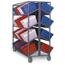 6 Shelf Piggy-Back Tote Rack - 24 Tub Capacity