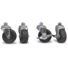 Locking Swivel Casters for Bag Rack + Nut