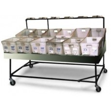Flat Tub Sortation Table + casters