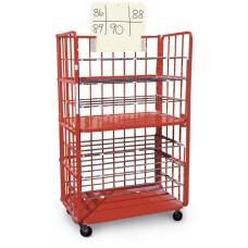 Red Transport Cart Scheme Placard - White