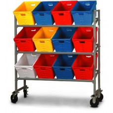 12 Tub Capacity Mobile Sort Rack