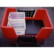 Lower level platform deck for Material Handling Container Truck (Cube Cart)