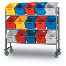 15 Tub Capacity Mobile Sort Rack