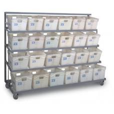 Flat Steel Tote Rack 6 Wide Expanded