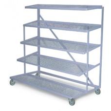 Distribution Rack with Overhead Shelf
