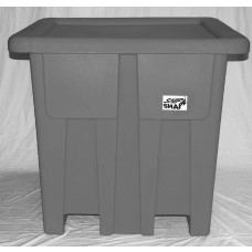 Bulk Container - Black - Stencil (1) - Lockable Cover - Drain Hole
