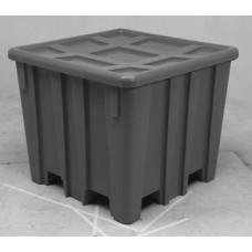 Bulk Container - Black - XRAY - Stencil (2) - Drain Hole - Casters