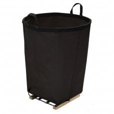 6 Bushel Black Round Basket.