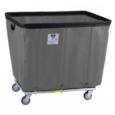 16 Bushel Permanent Liner Basket Truck w/ Antimicrobial Liner, Gray