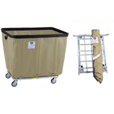 "18 Bushel ""UPS/FEDEX-ABLE"" Vinyl Basket Truck, Beige"
