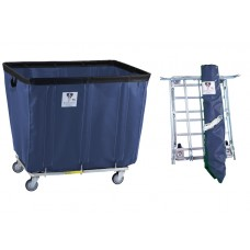 "16 Bushel ""UPS/FEDEX-ABLE"" Vinyl Basket Truck w/ Antimicrobial Liner, Navy"